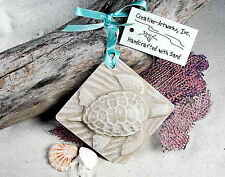 TURTLE, Large Nesting Sea Turtle Made with Sand Tropical Beach Ornament
