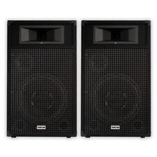 """Acoustic Audio BR12 Passive 12"""" Speaker Pair 3 Way DJ PA Karaoke Band Speakers"""