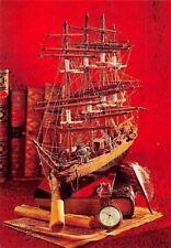 Schiff Ship in Miniature, Books Clock Bateau Postcard