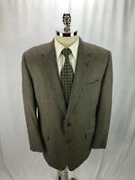Hickey Freeman Men's Brown Silk Wool Blend Blazer Jacket Sport Coat 44R