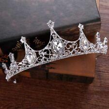 Luxury Bride Headdress Tiaras Handmade Crystal Headband Princess Wedding Crown
