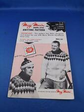 MARY MAXIM MENS CARDIGAN PULLOVER GRAPH STYLE KNITTING PATTERN SUN VALLEY 487