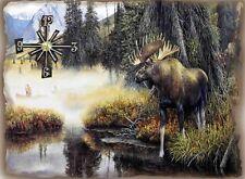Moose Hunter Wall Clock Makes Great Gifts