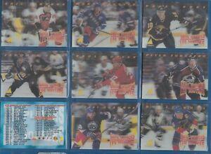 COMPLETE SET! 1995-96 McDonald's Pinnacle NHL 40 Card Set 3D Cards