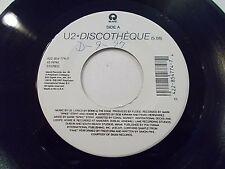 U2 Discotheque / Holy Joe 45 1997 Island Vinyl Record