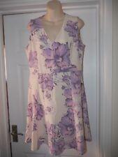 Ladies Ivory & Purple Flora Dess Size 16 Moda George Mother of the Bride Wedding