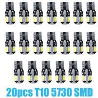 NEW 20pcs Canbus T10 194 168 W5W 5730 8 LED SMD White Car Side Wedge Light Bulb