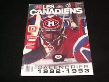LES CANADIENS  ° CALENDRIER 1992-1993 <> CALENDAR IN FRENCH°PATRICK ROY