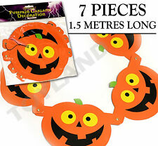 1.5M Halloween Pumpkin Garland decoration prop hanging card chain spooky party
