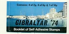 CASSETTE POSTALI - PILLAR BOX GIBRALTAR 1974 UPU Centenary booklet prestige