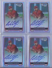 10) 2012 Bowman Chrome Andrew Chafin REFRACTOR BASE Autograph RC Auto Lot /500