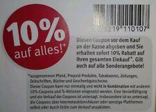 6 Stück 10% Original Rossmann Rabatt Coupons Gutschein bis 31.08..2019 August