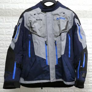 Klim Badlands Pro Gore-Tex Waterproof Motorcycle Motorbike Jacket - Blue - XL