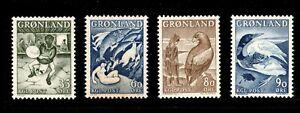 ES-15014 Greenland Scott 41,43-45 MNH 1957/69 Folk Tales Catalog $9.85