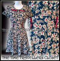 Topshop Kate Moss Iconic Floral Peter Pan Tea Dress 40s Landgirl Vintage UK 6 8