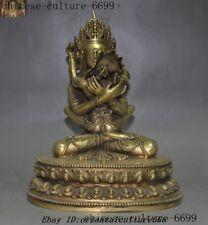old Tibetan Buddhism bronze Gilt Hevajra Mandkesvara HAPPY Budda Yab-Yum statue
