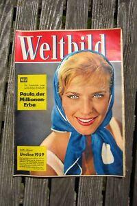 alte Weltbild Zeitschrift Nr. 6 Illustrierte 1. Märzheft 1959 Heft Vintage