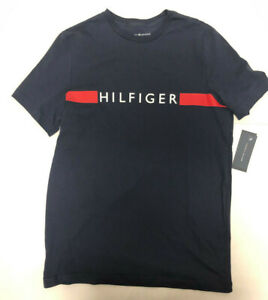 Tommy Hilfiger Tshirt Navy Sleep Shirt Tee Mens Small New With Tags