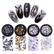 Nail Rhinestones 3D Decorations Flat Back AB Color Holographic Nail Art Manicure