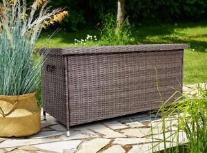 B- Ware Polyrattan Auflagenbox Kissenbox Gartenbox Truhe Box Aufbewahrungsbox DE
