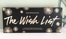 BARE MINERALS THE WISH LIST READY EYESHADOW PALETTE 1.2G / 0.04 OZ X 12 NIB