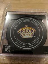 TIGER WILLIAMS Official LEGENDS NIGHT Game Puck LOS ANGELES KINGS