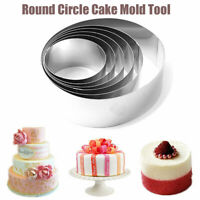 NEW 5 Pack Round Pastry Cutters Cookie Biscuit 10cm 9cm 8cm 7cm and 6cm diameter