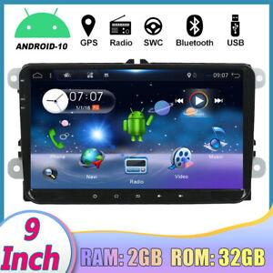 "9""Android 10.0 Autoradio For VW Golf MK5 MK6 GPS Stereo Navigatore WiFi RDS DAB"