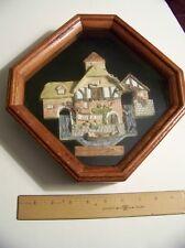 Collectible Pershore Mill shadowbox David Winter 1990 Hand Painted! John Hine Uk