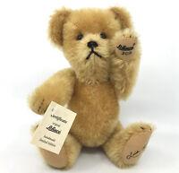 Schuco Linda Mullins Christmas Teddy Bear 1996 Gold Mohair Plush Limited Ed 500