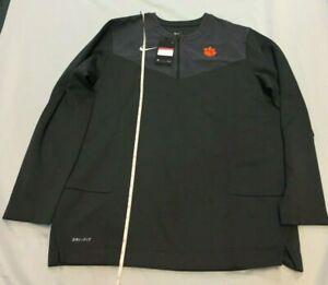 Nike Clemson Tigers Jacket 1/4 Zip Coach Sideline Pullover Men's Top Large