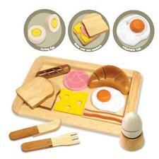 NEW I'm Toy Wooden Breakfast Set - Bread, Eggs, Tray & Cutlery