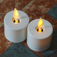 "Luminara LED Tea Light Candles Ivory With Remote and Timer 1.4""×2"" Set of 2"