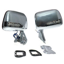 FIT TOYOTA HILUX PICKUP RN80 85 90 110 101 CHROME W LED SIDE DOOR MIRROR 1988-97