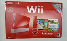 Nintendo Wii Super Mario Bros 25th Anniversary Red Console w Box Free Shipping