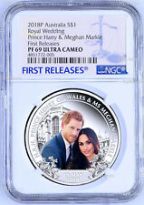 2018 Royal Wedding Prince Henry Ms. Meghan 1oz $1 SILVER PROOF COIN NGC PF69 FR