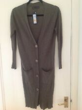 M&S olive green longline cardigan Size XS (8) BNWT