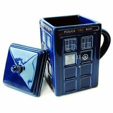 Doctor Who 'Tardis' Ceramic Mug with Lid New (FREE P+P)