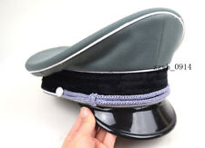 Replica WW2 German Whipcord  Military Elite Officer Hat Cap W badge