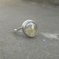 Rutilated Quartz Solid 925 Sterling Silver Anxiety Ring Meditation Ring SR027