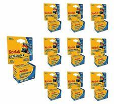 10 Rolls- Kodak Ultramax 400 GC 135-36 35mm Film Expiration 2022