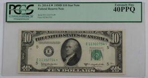 1950D Ten Dollar *Star* Federal Reserve Note FR#2014-E* PCGS EF-40 PPQ (Better)
