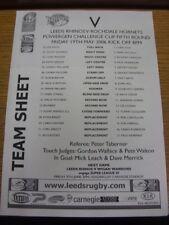 19/05/2006 liga de rugby teamsheet: Leeds V Rochdale Copa Desafío [] (plegado). Bo