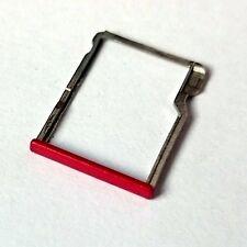 100% ORIGINALE HTC ONE M8 MICROSD CARD VASSOIO memoria Slide Holder rosso metallo Grado B