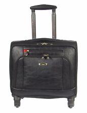 4 Wheel Pilot Case Business Travel Bag Laptop Briefcase Cabin Black Trolley NEW