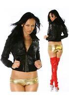 Sexy Hot Metallic Micro Shorts Stretchy Pants Underwear G-String Pants UK 8-16