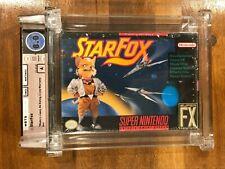 Star Fox, Super Nintendo SNES, Sealed New, GRADED WATA 8.0 / A Starfox