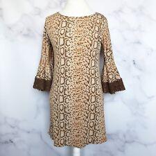 Judith March Womens Leopard Print Swing Dress Size Small 713D-1