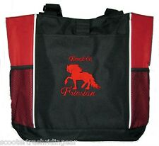 Friesian Draft Horse Red Black Tote bag harness New shopping business diaper