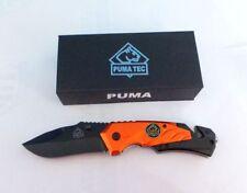 Puma Tec Messer Taschenmesser Rescue Rettungsmesser  Einhandmesser Rettung Rot